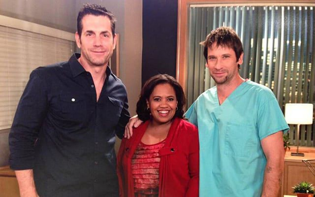 Chandra Wilson, Grey's Anatomy, Frank Valentini, Roger Howarth