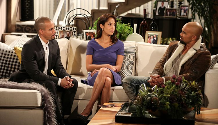 Bryton James, Christel Khalil, Shemar Moore, The Young and the Restless