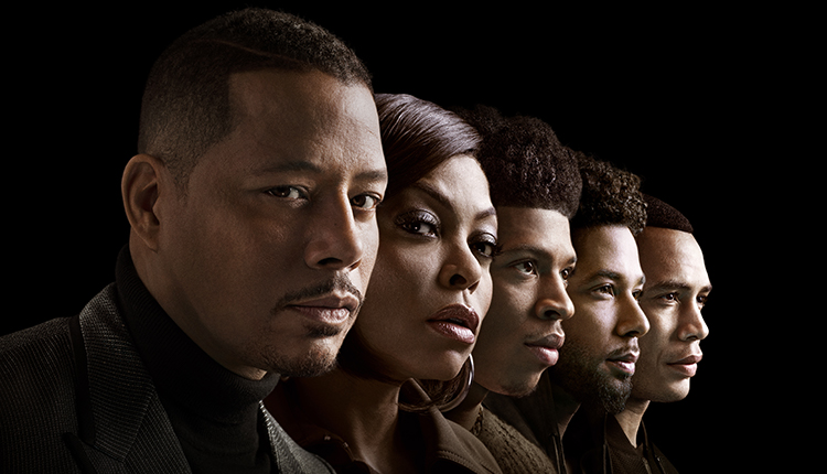 Empire, Terrence Howard as Lucious Lyon, Taraji P. Henson as Cookie Lyon, Bryshere Y. Gray as Hakeem Lyon, Jussie Smollett as Jamal Lyon and Trai Byers as Andre Lyon