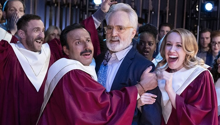 Perfect Harmony, Geno Segers as Shep Rollins, Rizwan Manji as Reverend Jax, Bradley Whitford as Arthur Cochran, Anna Camp as Ginny, Tymberlee Hill as Adams Adams