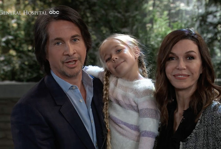General Hospital, Michael Easton, Finola Hughes, Jophielle Love