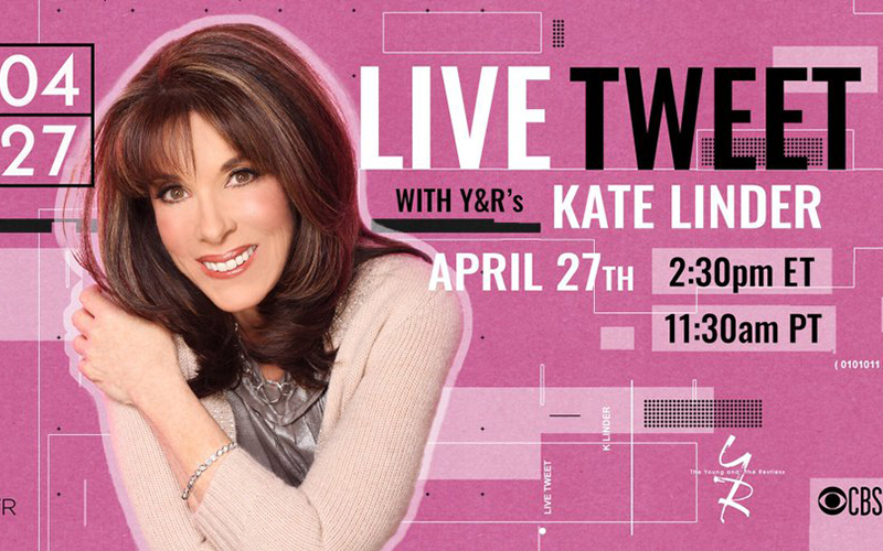 Kate Linder, Twitter, The Young and the Restless