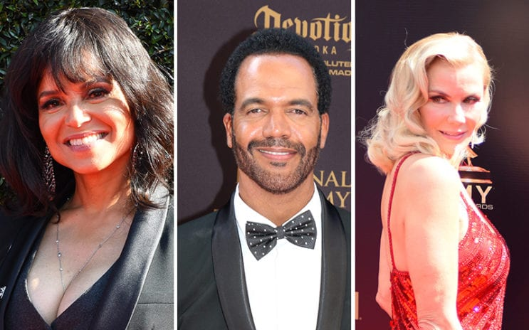 Victoria Rowell, Kristoff St. John, Katherine Kelly Lang, The Bold and the Beautiful, The Young and the Restless