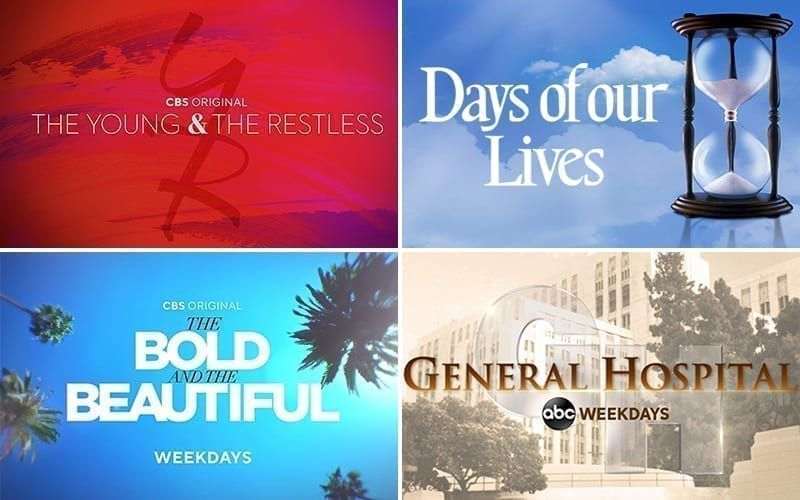 The Young and the Restless, Days of our Lives, The Bold and the Beautiful, General Hospital